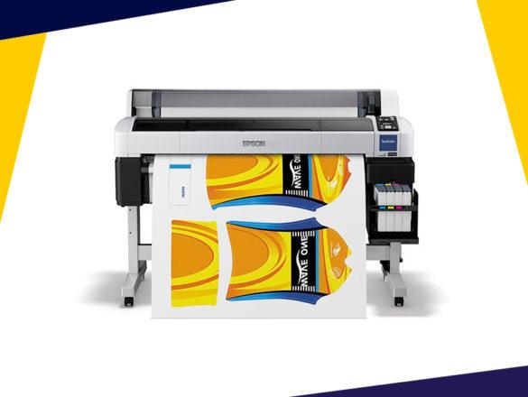 Impressora sublimática com largura de impressão 109cm.