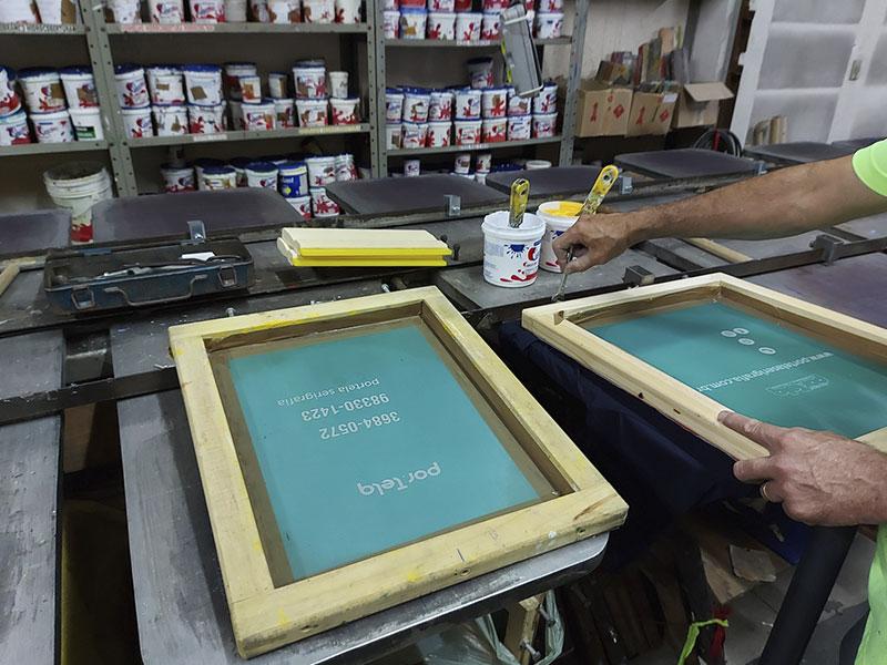 Impressão Serigráfica - Passo 5