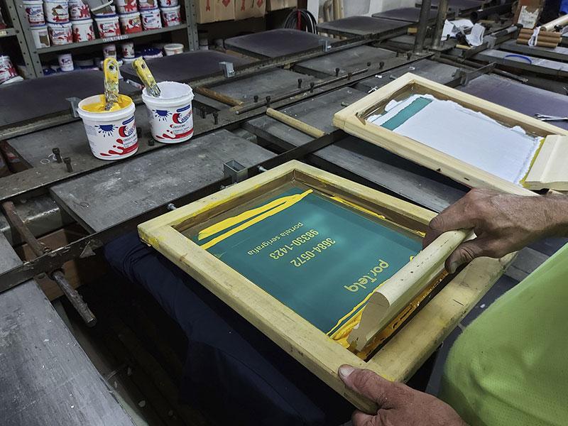 Impressão Serigráfica - Passo 6